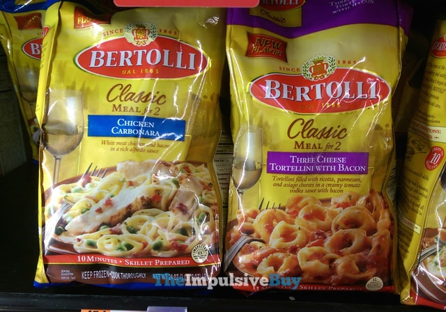 Bertolli Classic Meals for 2 Chicken Carbonara and Three Cheese Tortellini with Bacon
