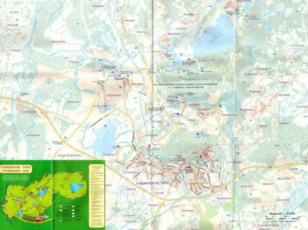 карта Пушкинские горы