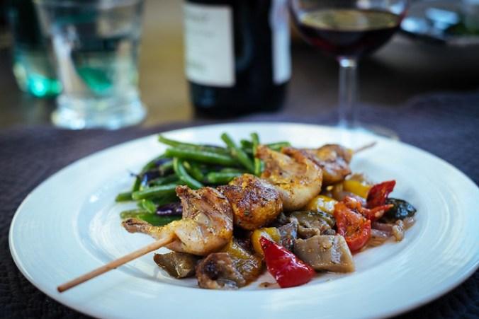Naar de markt in de Luberon: we kochten kwartels en ratatouille
