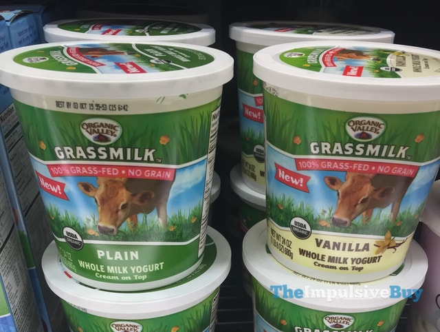 Organic Valley Grassmilk Whole Milk Yogurt (Plain and Vanilla)