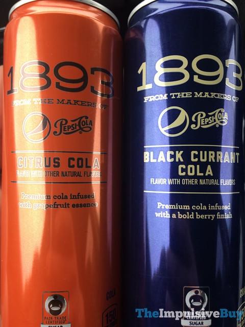 Pepsi 1893 Citrus Cola and Black Currant Cola