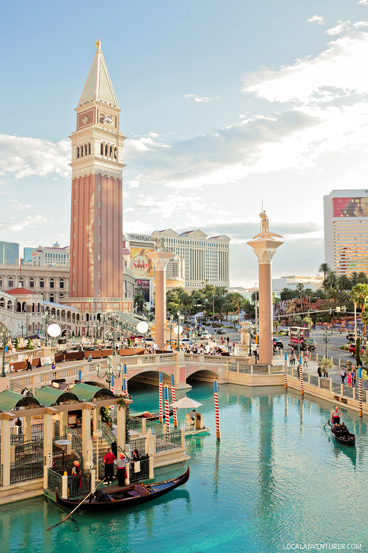 The Venetian Gondola Ride Las Vegas.