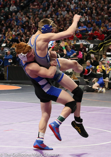 120 - Robby Horsman (Kasson-Mantorville) over Ryan Dunlap (Foley) Dec 11-4