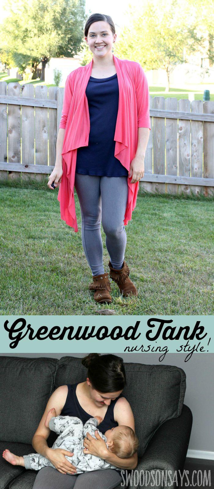 Greenwood Tank - Nursing Hack on Swoodson Says, pattern from Straight Stitch Designs