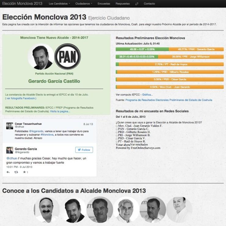 pagina elección 2013