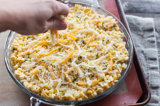 20 minute cheddar sweet corn pie