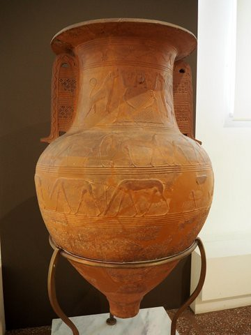 355.Relief Pithos from a Cycladic Workshop