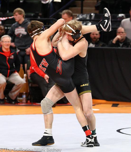 132 - Tanner Pasvogel (Sibley East) over Seth Brossard (Kenyon-Wanamingo) Dec 13-6
