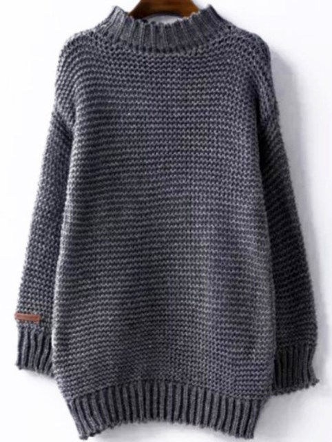 Winter is Coming: SheIn's High Neck Chunky Knit Grey Sweater