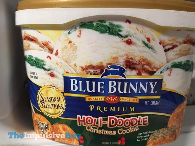 Blue Bunny Seasonal Selections Holi-Doodle Christmas Cookie Ice Cream