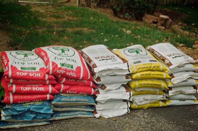 Bags of dirt