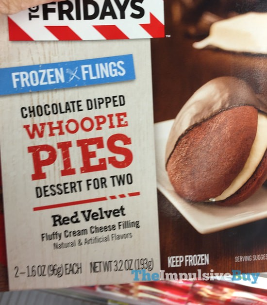 TGI Fridays Frozen Flings Red Velvet Chocolate Dipped Whoopie Pies