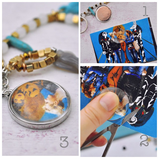 DIY key chain with your photo personal gift