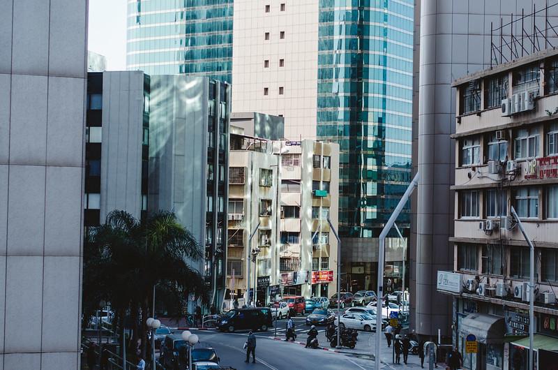 Tall glassy building
