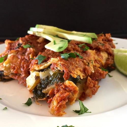 potato kale enchiladas