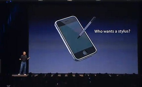 Who wants a stylus? - Steve Jobs