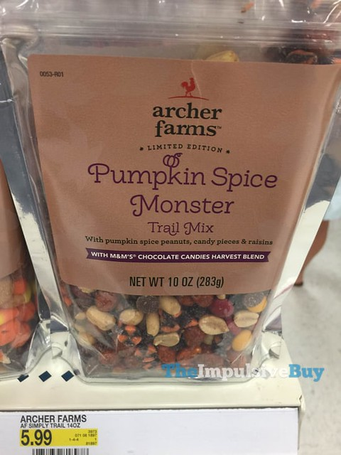 Archer Farms Limited Edition Pumpkin Spice Monster Trail Mix with M&M's Chocolate Candies Harvest Blend