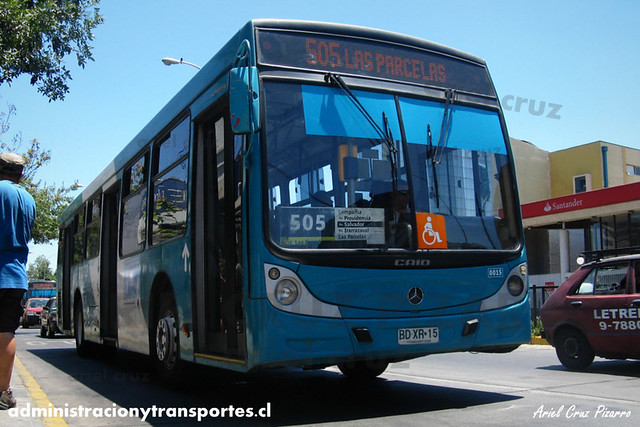 Transantiago - Metbus - Caio Mondego H / Mercedes Benz (BDXR15)