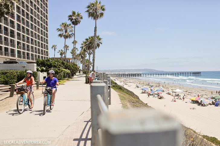 Bike Along the Boardwalk at Pacific Beach (25 Free Things to Do in San Diego).