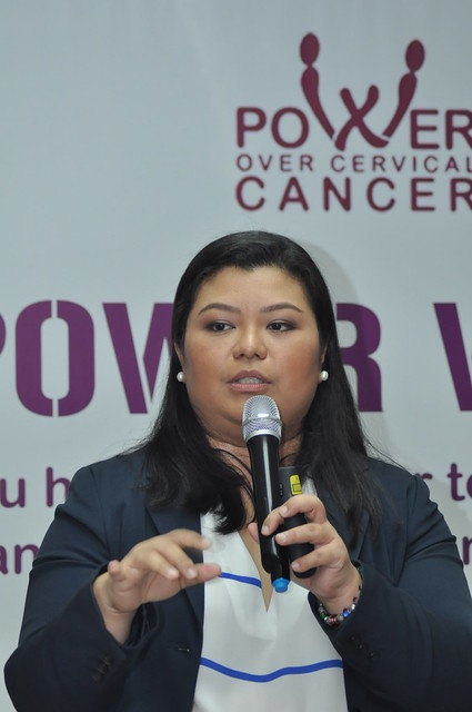 Dr. Leah Manio during the Power Over Cervical Cancer Power Wives event 2