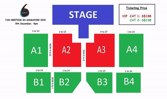 Day6 Fanmeet in SG Seating Plan