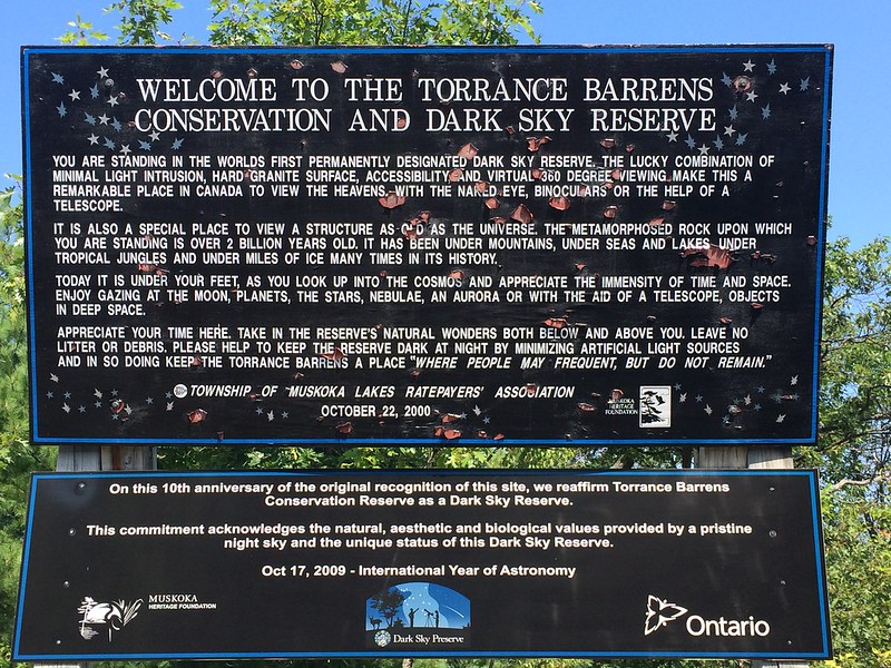 Torrance Barrens Dark Sly Reserve in Muskoka