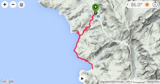 Sella to Cetti Bay Topo Map
