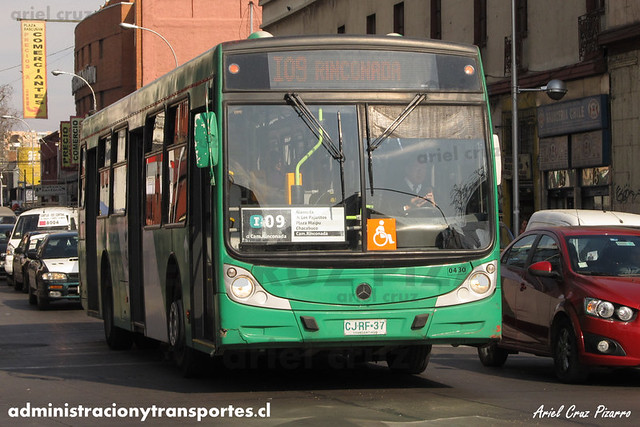 Transantiago - Buses Vule - Caio Mondego H / Mercedes Benz (CJRF37)