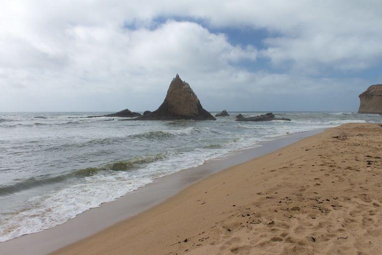 03 October, 2015. Martin's beach near Half Moon Bay, CA