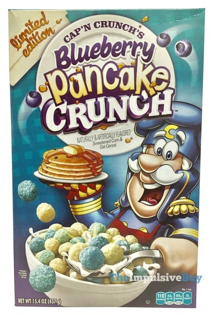 Limited Edition Cap'n Crunch's Blueberry Pancake Crunch Cereal