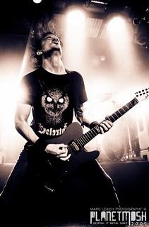 Joe Duplantier of Gojira live at Limelight 1, Belfast, 27 August 2015
