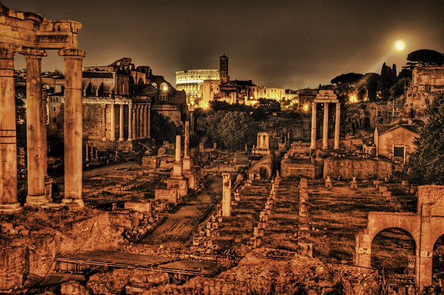 Ancient Roman Forum By Night Flickr Photo Sharing