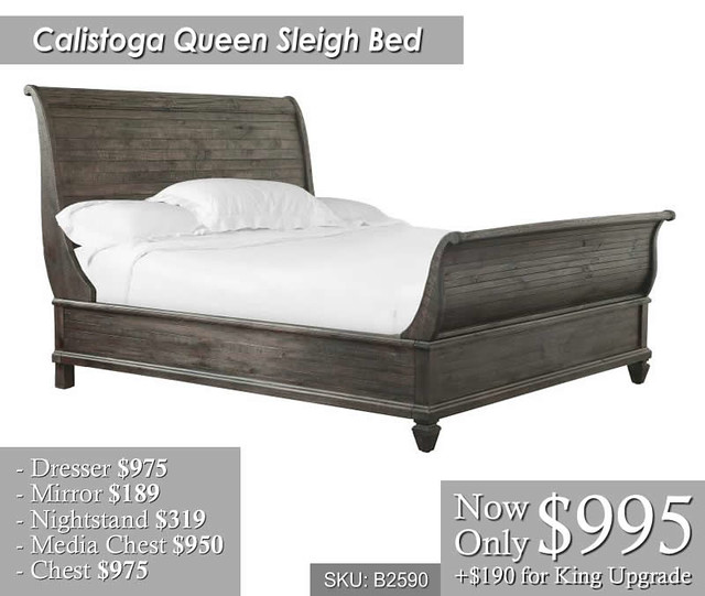 Calistoga Sleigh Bed
