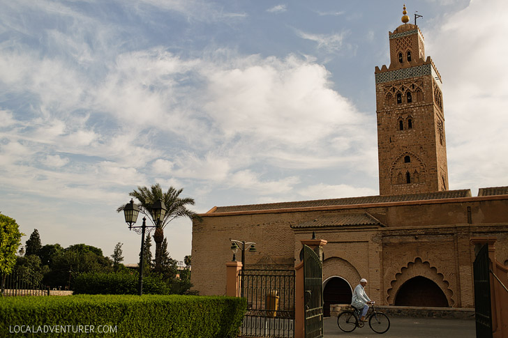 Koutoubia Mosque and Minaret (21 Fascinating Things to Do in Marrakech Morocco).