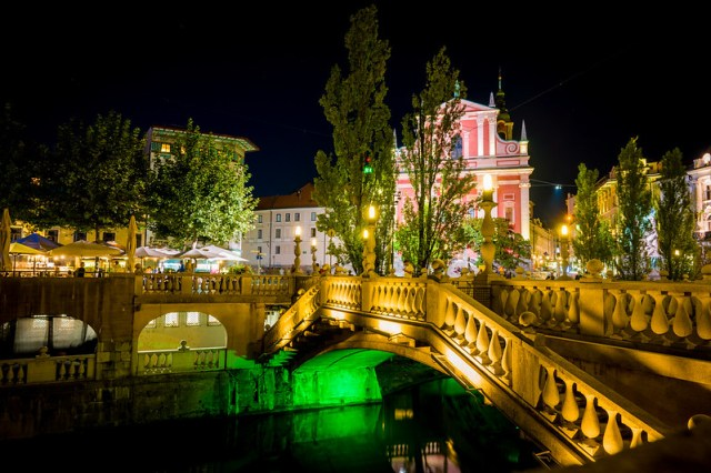 Triple Bridges at Night