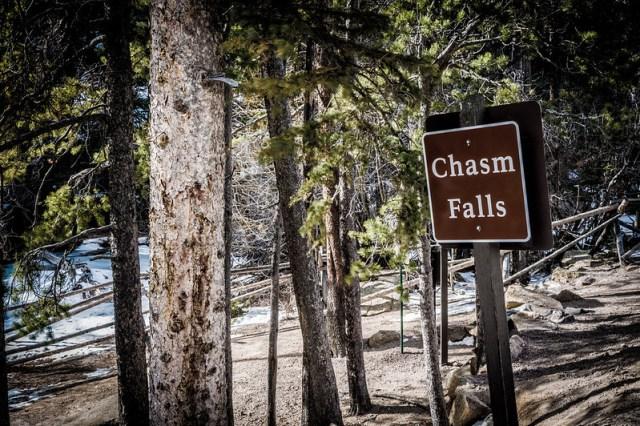 Chasm Falls Sign