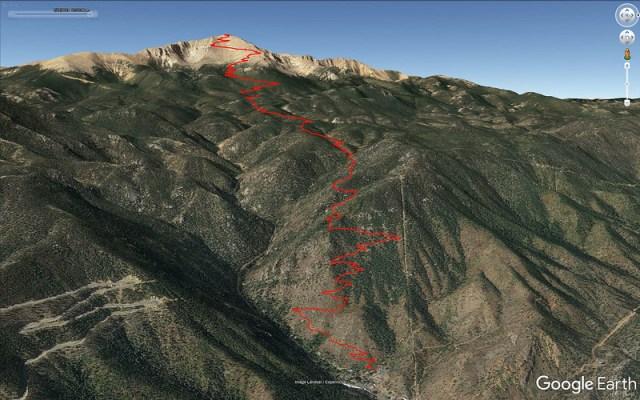 Barr Trail Google Earth