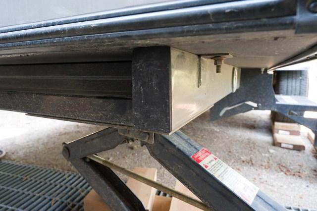 Plugged R-Pod Frame Rail