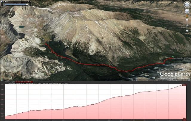 Horn Fork Basin Google Earth