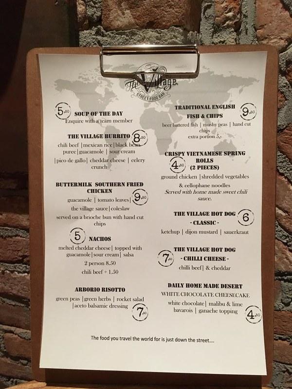 The Village Eindhoven Streetfood menu