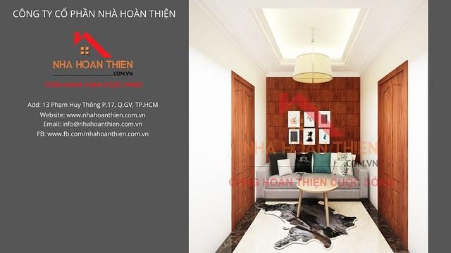 Bản vẽ 3D nội thất Phòng Sảnh Thang - Lầu 1 căn L2.8 dự án CityLand Garden Hills - Gò Vấp