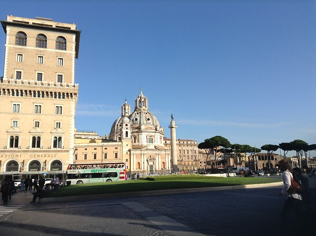 Palazzo Valentini is just behind Piazza Venezia, in the photo