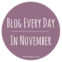 Blog Every Day in November badge