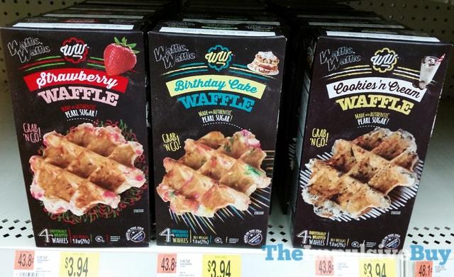 Waffle Waffle Strawberry, Birthday Cake, and Cookie 'n Cream Waffles