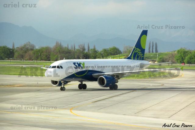 Sky Airline - Santiago (SCL) - Airbus A319 CC-AIB