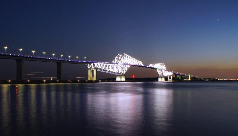 Tokyo Gate Bridge from Wakasu Koen (Park)
