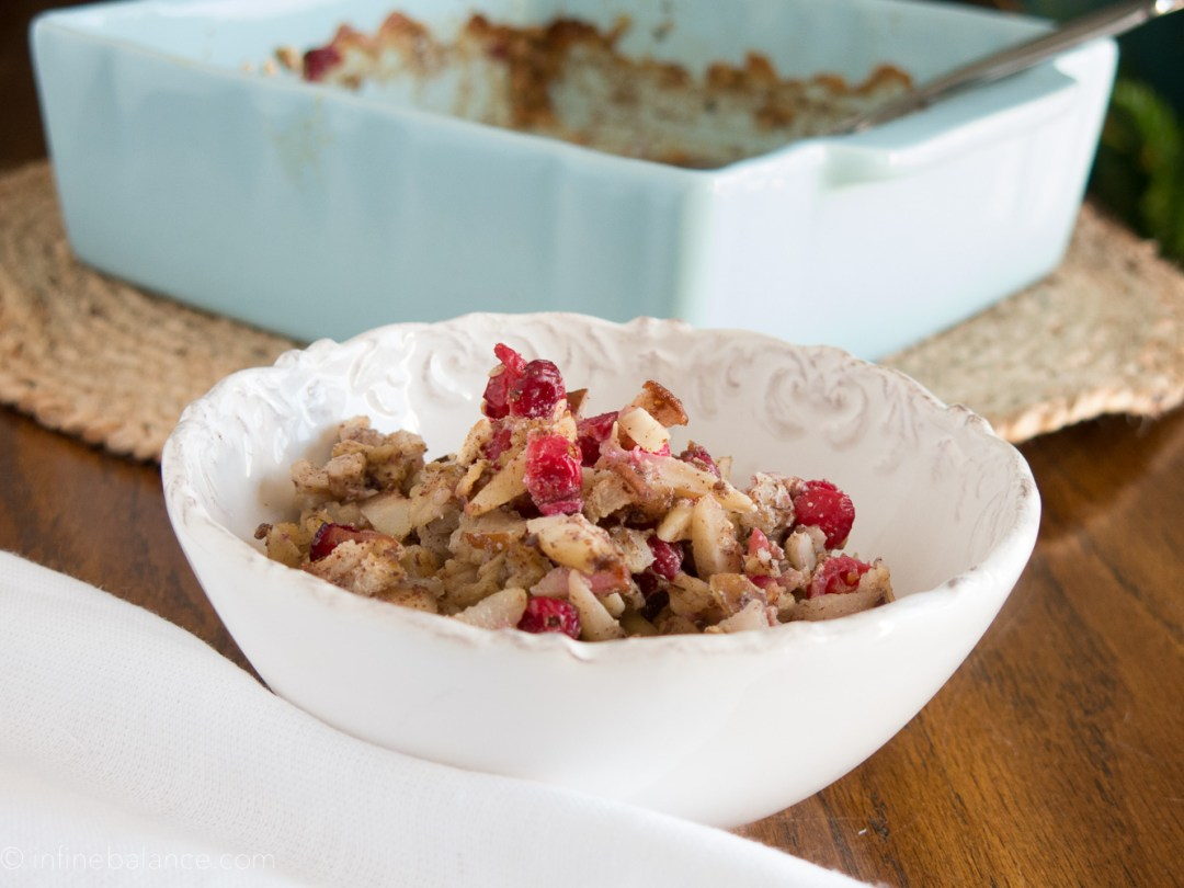 Cranberry and Pear Baked Oatmeal | www.infinebalance.com #recipe #breakfast