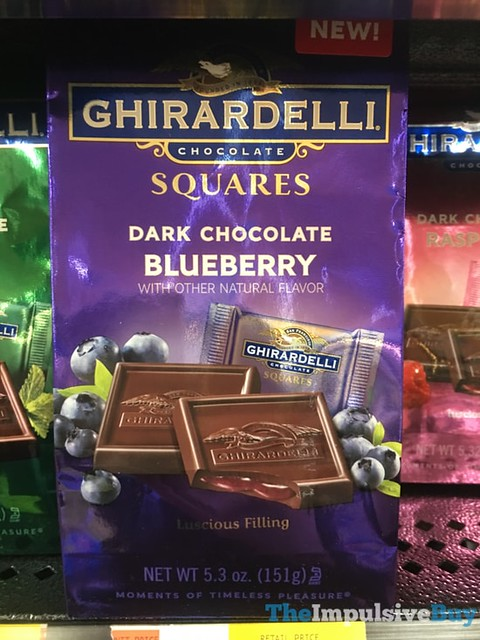 Ghirardelli Dark Chocolate Blueberry Squares