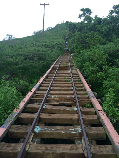Bridge on the Koko Crater Stairs