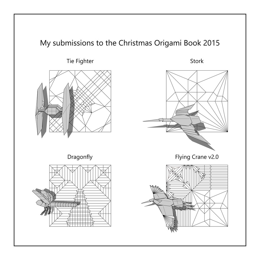 Diagrams To Be Published In Christmas Origami Book